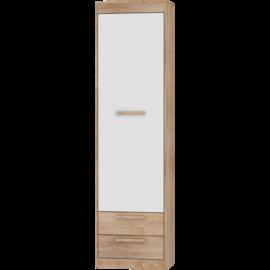 MAXIMUS 01 szekrény fényes fehér sonoma tölgy