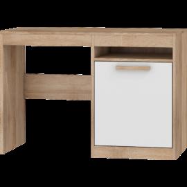 MAXIMUS 02 íróasztal fényes fehér sonoma tölgy