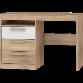 MAXIMUS 03 íróasztal fényes fehér sonoma tölgy