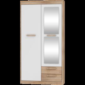 MAXIMUS 04 szekrény fényes fehér sonoma tölgy
