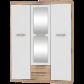 MAXIMUS 05 szekrény fényes fehér sonoma tölgy