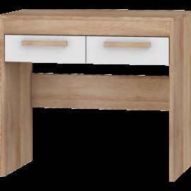 MAXIMUS 42 fésülködőasztal fényes fehér sonoma tölgy