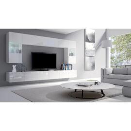 Calabrini magasfényű fehér nappali szekrénysor 300cm