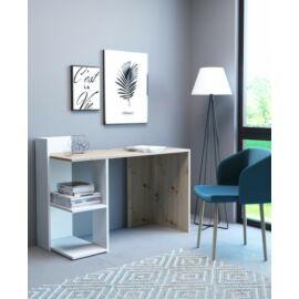 PACO íróasztal fehér-artisan tölgy