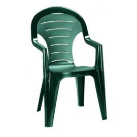 Curver Bonaire műanyag kerti szék, sötétzöld