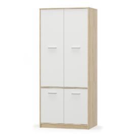 4- ajtós akasztós szekrény fehér tölgy sonoma TEYO