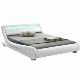 Modern ágy RGB LED világítással fehér 180x200 FILIDA