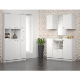 Magas fürdőszobai szekrény fehér GALENA SI13