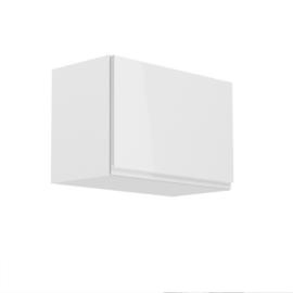Felsőszekrény, fehér/fehér extra magasfényű, AURORA G60K