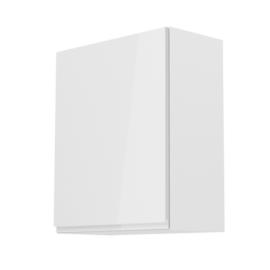 Felsőszekrény fehér fehér extra magasfényű balos AURORA G601F