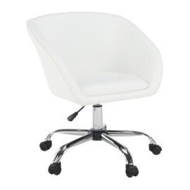 Irodai szék fehér ekobőr fém LENER