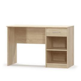 Íróasztal 1S, sonoma tölgyfa, TEYO