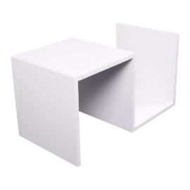 Kisasztal, fehér, VALMAR