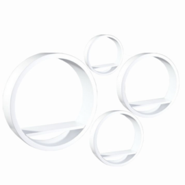 Polc készlet kör alakú fehér 4 db EMA FY 8211