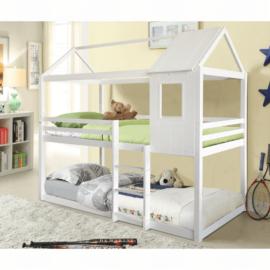 Montessori emeleteságy, fehér, 90x200, ATRISA