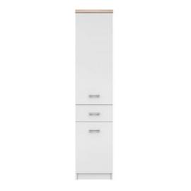 szekrény 2D1S, fehér/tölgy sonoma, TOPTY 05
