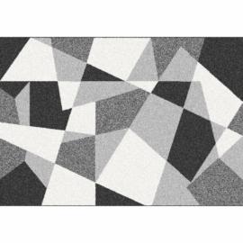 Szőnyeg, fekete/szürke/fehér, 67x120, SANAR