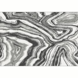 Szőnyeg, fehér/fekete/minta, 57x90, SINAN