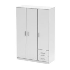 Háromajtós szekrény fehér NOKO-SINGA 84