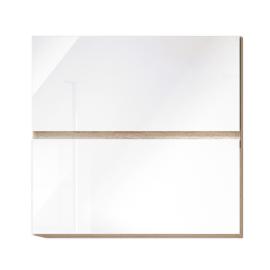 Felsőszekrény fehér magas fényű HG LINE BIELA G60