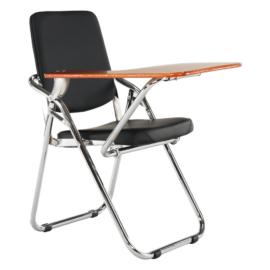 Írólapos szék fekete natúr SONER
