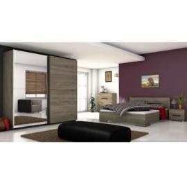 Modern hálószoba sötét sonoma tölgyfa BETINO