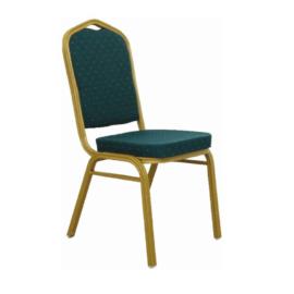 Szék rakásolható zöld matt aranyszín ZINA 2 NEW