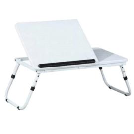 Notebook asztal, fehér, EVALD
