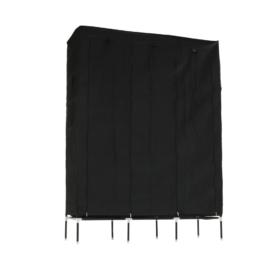 Szekrény szervező, anyag/fém, fekete, TARON VNW05