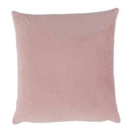Párna, bársony anyag rózsaszín, 45x45, ALITA TYP 2