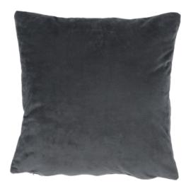 Párna, bársony anyag sötétszürke, 45x45, ALITA TYP 8