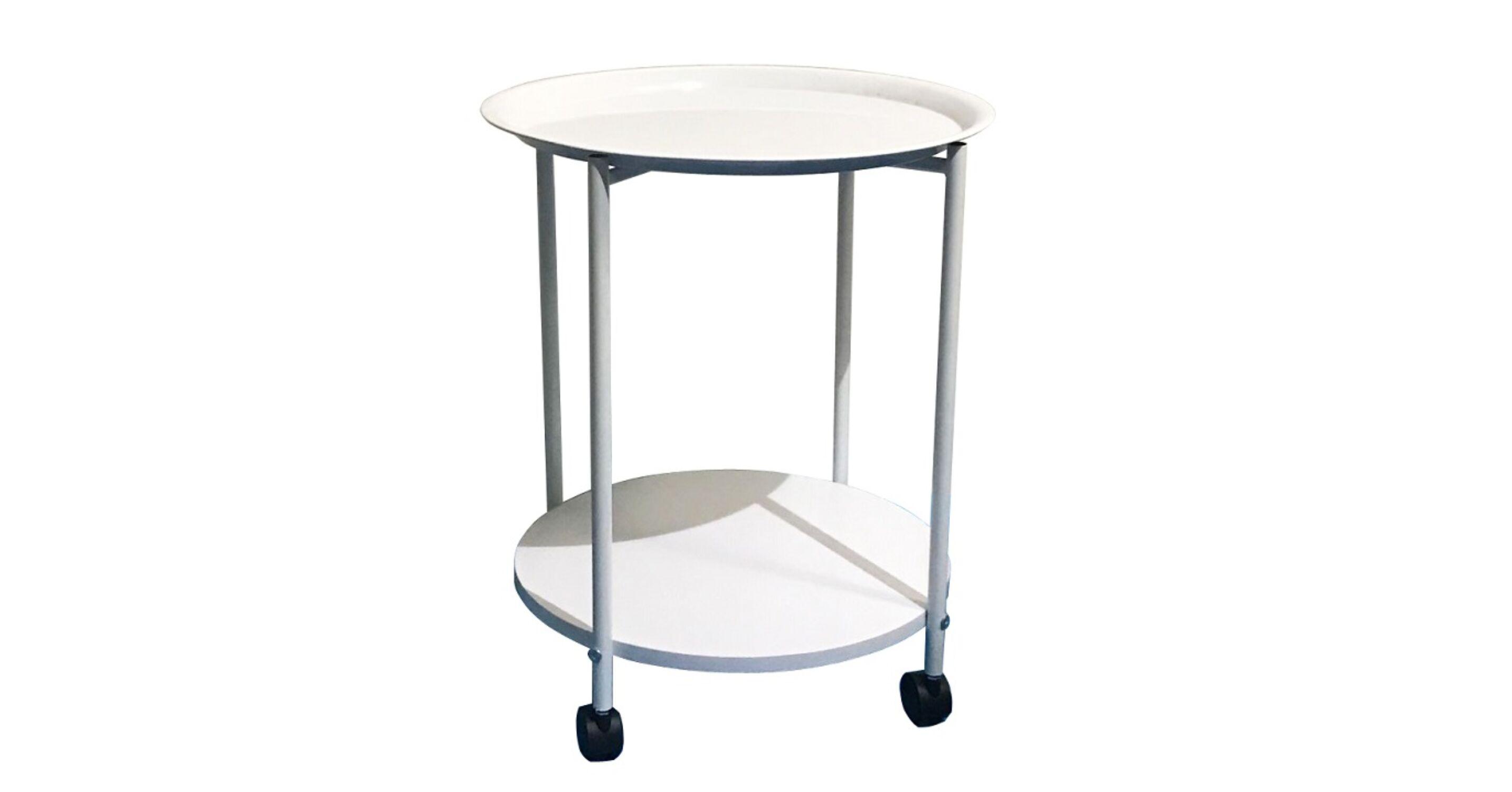 71940875f8a9 DERIN Modern kerekes kézi asztalka : MDF / fém