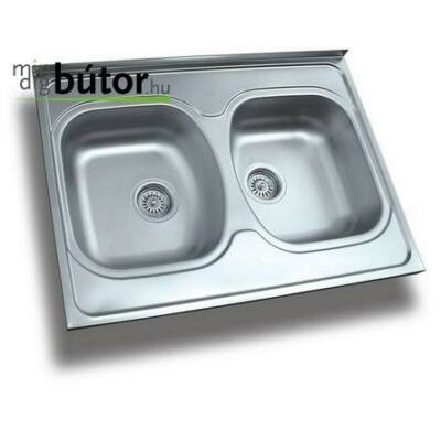 2 medencés teletetős mosogatótálca