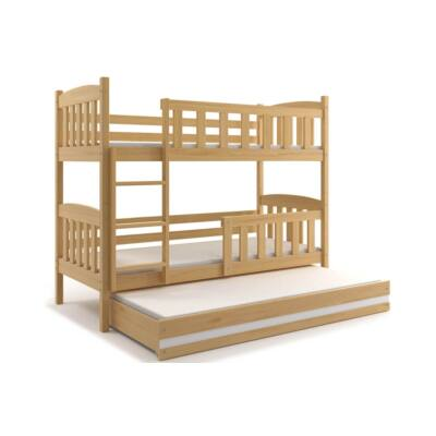 Kubus emeletes ágy, kihúzható ággyal