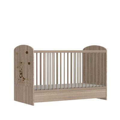 Faktum Mia Sonoma - Átalakítható 140-es babaágy, kiságy rágásvédővel (zsiráf mintával)