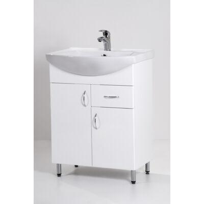 Standard 65F mosdós fürdőszoba szekrény, mosdókagylóval