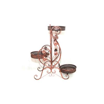 Bronz virágtartó 3 tálcás, fix, 006-3