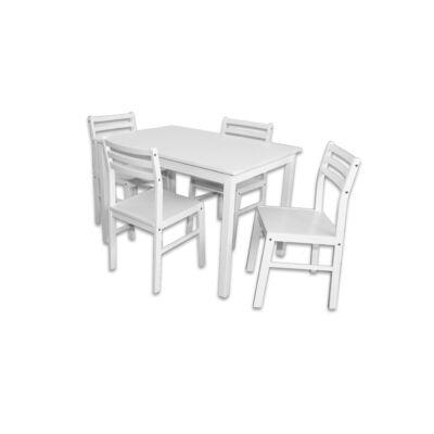 Lili étkezőgarnitúra, Fix asztallal, 4db székkel