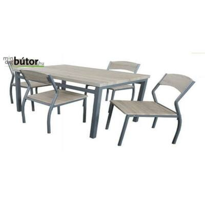 Zoé étkezőgarnitúra, Fix étkezőasztallal, 4db székkel