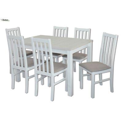 Mokka étkezőgarnitúra, bővíthető asztallal, 6db Mokka székkel