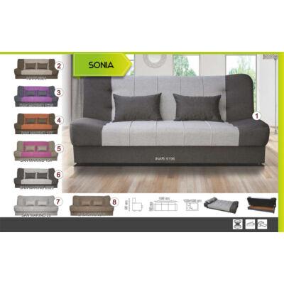 Sonia ágyazható ágyneműtartós kanapé SZÜRKE SZÍNBEN