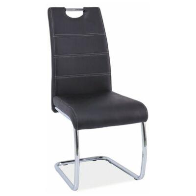 Étkező szék, króm/textilbőr, ABIRA