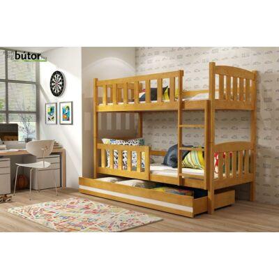 Kubusemeletes ágy fiókkal, matraccal-SZÜRKE