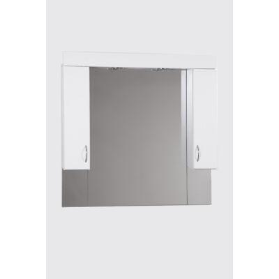 Standard 100SZ fürdőszobai tükör polcos kis szekrénnyel és LED lámpával