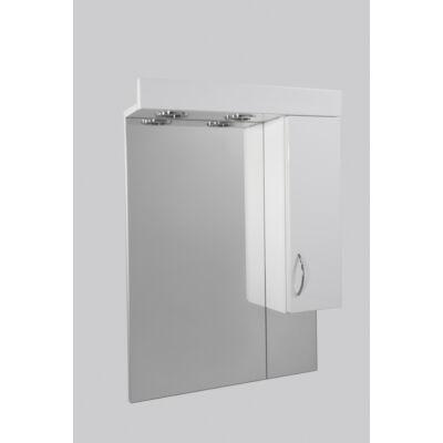 Standard 75SZ fürdőszobai tükör polcos kis szekrénnyel és 2db szpottal