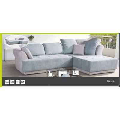 Pure ággyá alakítható, ágyneműtartós, hullám rugós sarok ülőgarnitúra