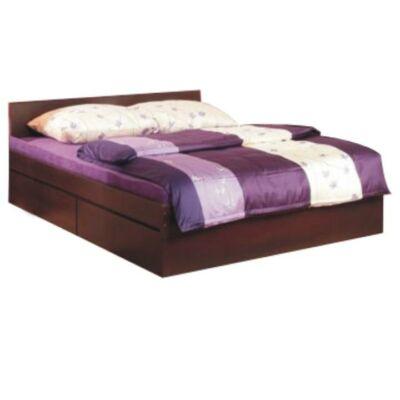 Dupla ágy, 160x200 cm, erdei fenyő/lareto, PELLO 92 TÍPUS