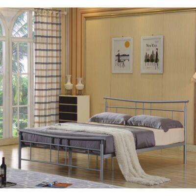 DORADO fém ágy lécezett ráccsal, ezüst fém 160 x200