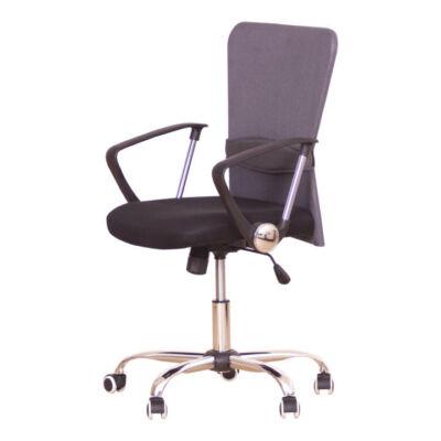 Irodai szék, fekete ülés, szürke háttámla, AEX