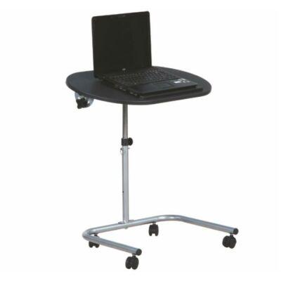 Laptop asztal,fekete + ezüst fém, NOVA